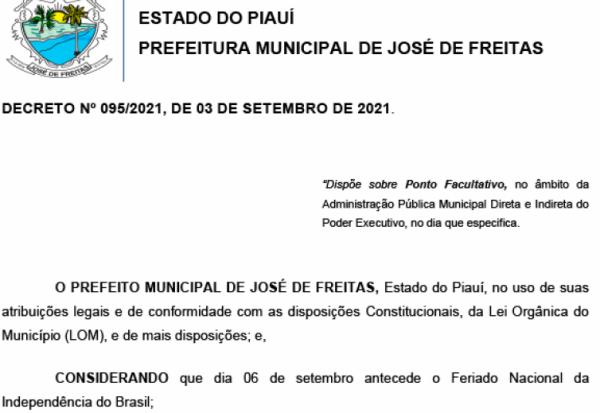 DECRETO Nº 095/2021, DE 03 DE SETEMBRO DE 2021.